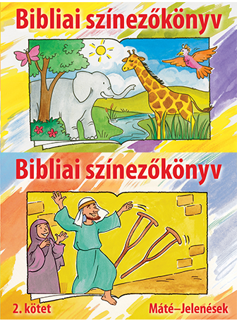 Bible Coloring Book Set (Hungarian)