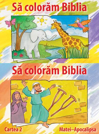 Bible Coloring Book Set (Romanian)